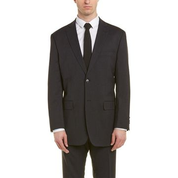 English Laundry Mens 2Pc Wool-Blend Suit With Pleated Pant