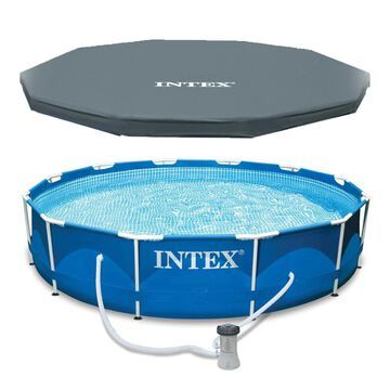 Intex 12-ft x 12-ft x 30-in Round Above-Ground Pool | 124947