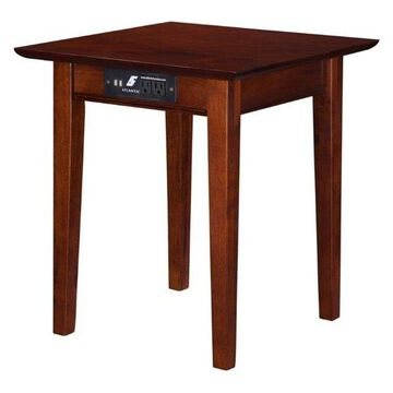 Atlantic Furniture Anderson Square End Table in Walnut