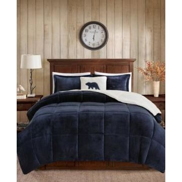 Woolrich Alton Full/Queen 4 Piece Plush to Sherpa Down Alternative Comforter Set