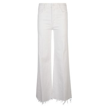 Mother Flare Ripped Cuff Long Length Jeans
