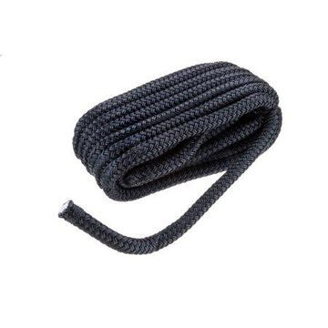Seachoice 40381 High Quality Dock Rope for Boating - Double-Braid Nylon Dock Line, -Inch x 25 Feet, Black