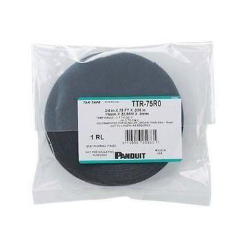 Panduit TTR-75R0 Tak-Tape Hook & Loop - Cable tie - 75 ft - black