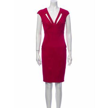 V-Neck Mini Dress Pink