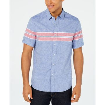 Men's Wraparound Chest Stripe Shirt