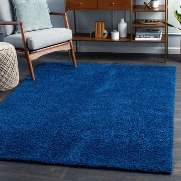 """Art of Knot Fourni Blue 8'10"""" x 12' Modern Solid Area Rug"""