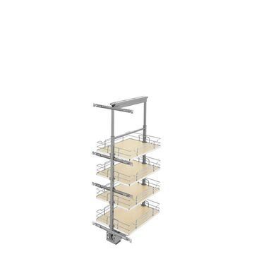 Rev-A-Shelf 16-in W x 43.4-in H 4-Tier Pull Out Metal Soft Close Baskets & Organizers