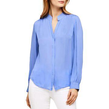 L'Agence Womens Bianca Blouse Silk Sheer
