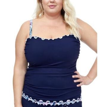 Profile by Gottex Plus Size Snake Charm Sweetheart Tankini Top Women's Swimsuit