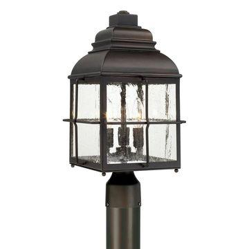 Lanier 3-light Old Bronze Outdoor Post Lantern