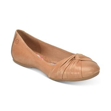 Born Womens Lilly Leather Closed Toe Ballet Flats - 10