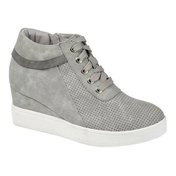 Journee Collection Ayse Women's Sneaker Wedges, Size: 9, Grey