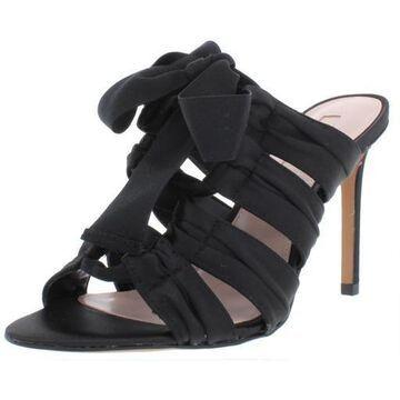 Avec Les Filles Womens Janelle Satin Lace-Up Dress Sandals