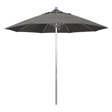 California Umbrella Venture 9' Silver Market Umbrella, Natural