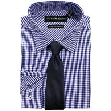 Nick Graham Men's Modern-Fit Dress Shirt and Tie