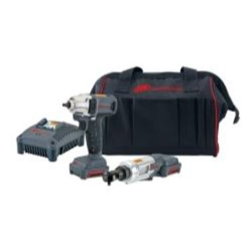 Ingersoll Rand 12V Impact & Ratchet Kit - IQV12-202 with Charger, Bag & Batteries