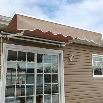 ALEKO Retractable Motorized Patio Awning 6.5x5 ft, Sand Color