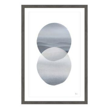Marmont Hill Spheres Merging 20-Inch x 30-Inch Framed Wall Art