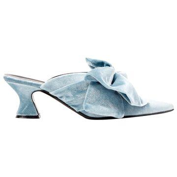 Vivetta Blue Velvet Sandals