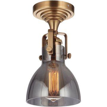 Craftmade X8317-VB State House Semi-Flush Mount Vintage Brass