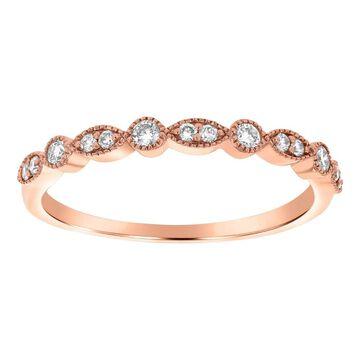 14K Rose Gold 1/5ct TDW Diamond Art Deco Anniversary Band by Beverly Hills Charm (5.5)