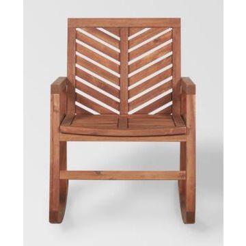 Walker Edison Outdoor Chevron Rocking Chair