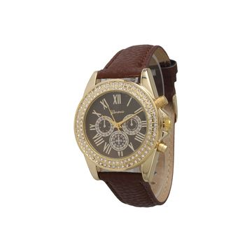 Olivia Pratt Unisex Brown Strap Watch-514032