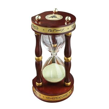 Roman Naughty or Nice Sandglass, Christmas Themed Hourglass from Santa Claus: The Book of Secrets - Brown - 4 in. x 8 in.