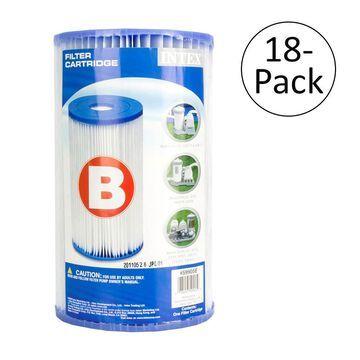 Intex Pool Easy Set Type B Replacement Filter Pump Cartridge (18 Pack) | 29005E