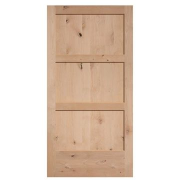 Masonite Unfinished 3-Panel Wood Knotty Alder Barn Door (Common: 42-in x 84-in; Actual: 42-in x 84-in)