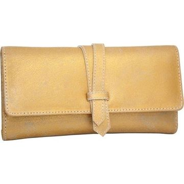 Nino Bossi Women's Crackle Flap Wallet Gold - US Women's One Size (Size None)