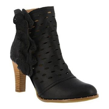L'Artiste by Spring Step Women's Cascadia Bootie Black Leather