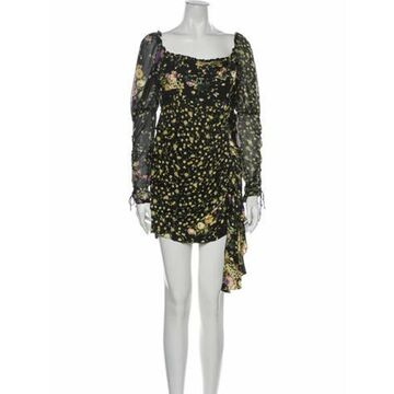 Floral Print Mini Dress w/ Tags Black