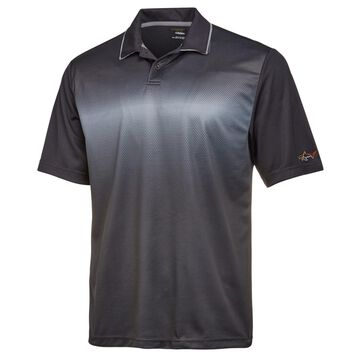 Greg Norman Mens Fade-Stripe Rugby Polo Shirt
