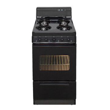 Premier 20-in 4 Burners 2.4-cu ft Freestanding Gas Range (Black)