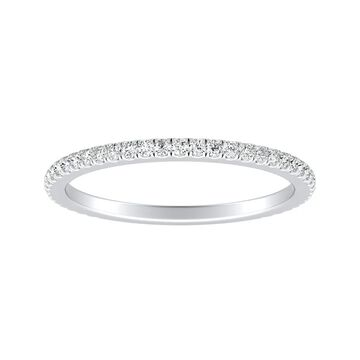 Auriya Platinum 1/5ctw Stackable Diamond Wedding Band