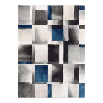 Well Woven Good Vibes Louisa Modern Geometric 3D Textured Area Rug, Blue, 8X10.5 Ft