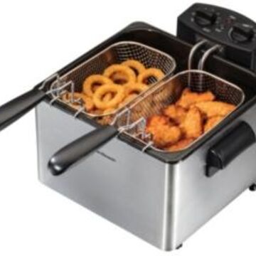 Hamilton Beach Double Basket Professional Deep Fryer