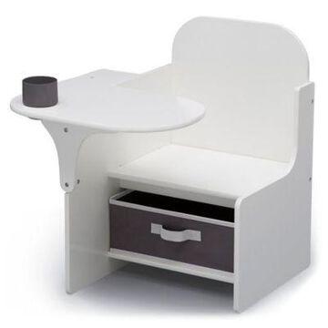 Delta Children Mysize Chair Desk With Storage Bin In Bianca White