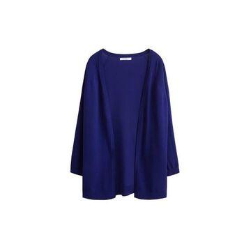 Violeta BY MANGO - Fine-knit cardigan vibrant blue - S - Plus sizes