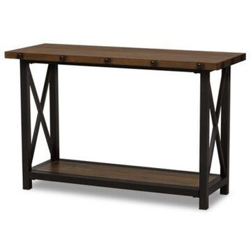 Baxton Studio Herzen Console Table In Brown/black