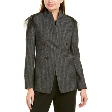 Brunello Cucinelli Herringbone Wool-Blend Jacket