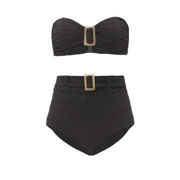 Lisa Marie Fernandez - Buckled Bandeau High-rise Bikini - Womens - Black