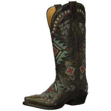 Roper Womens Mai Snip Fabric Closed Toe Over Knee Cowboy Boots
