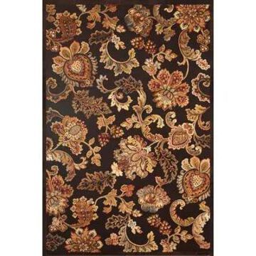 Adalia Floral Chenille Machine Made Area Rug by Greyson Living