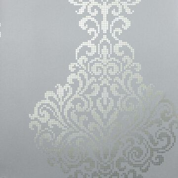Kenneth James Sparkle 56-sq ft Pewter Non-Woven Damask Unpasted Wallpaper in Gray