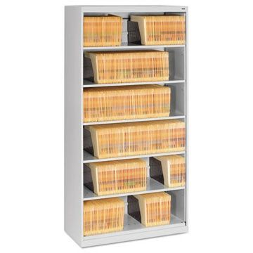 Tennsco Open Fixed 6-Shelf Lateral File