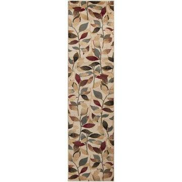 """Art of Knot Cassia Camel 7'10"""" x 10'10"""" Modern Floral Area Rug"""