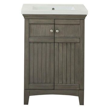 Legion Furniture Helen Vanity, Silver Gray, 24