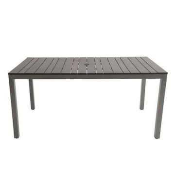 Polywood Rectangle Dining Table in Grey